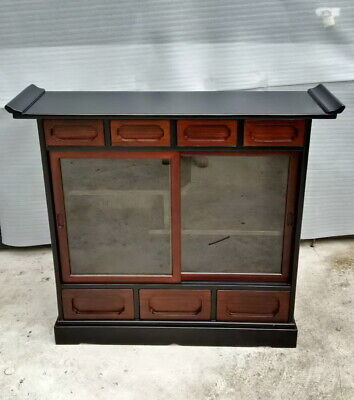 Japanese Wooden Curio Cabinet