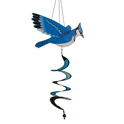In the Breeze Blue Jay Twister Wind Spinner
