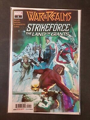 War of the Realms Strikeforce The Land of Giants #1 Marvel NM Comic Book
