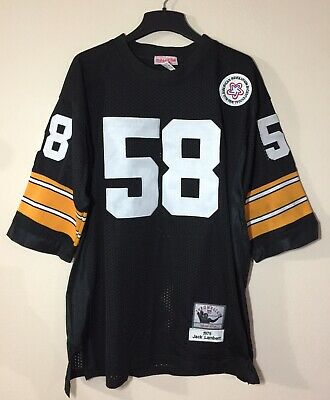 8e1591cc3 Mitchell & Ness Jack Lambert Pittsburgh Steelers #58 Throwback Jersey Sz 52  1975