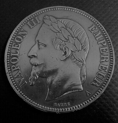 5 Francs Argent Napoleon Iii  1870 A  Authentique Belle Qualite