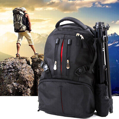 Professional Backpack Photography Package SLR Camera Laptop Bag Shockproof Black