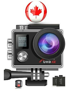 Campark ACT76 Sports Action Camera 4K 16MP Underwater Waterproof Cam WiFi Remote