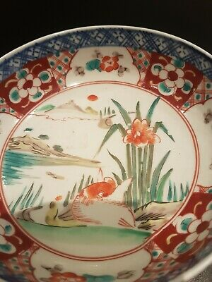 Chinese Famille Verte Porcelain Bowl of Landscapes,Ribbons and Lozenges