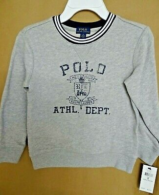 NWT Ralph Lauren Polo Boys Flag Atlantic Terry Pullover Sweatshirt