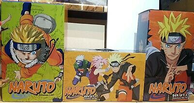 NARUTO 1-72 BOXSET 1 + 2 + 3 Manga Collection Complete Run Volumes Set ENGLISH