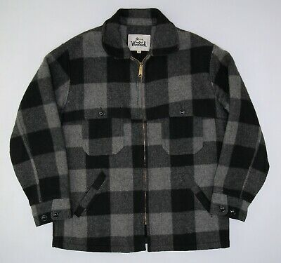 594b2b7fe66e2 VINTAGE 60S WOOLRICH 543 Buffalo Plaid Hunting Jacket Size Small (36 ...
