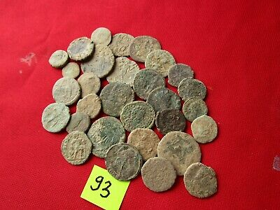 Ancient Roman coins - UNCLEANED COINS - Beautiful . Lot with 30 pieces .No 93