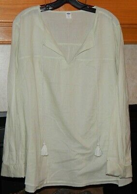 8ef7b31152a NWT Old Navy Women's Casual Blouse Top Tassel Shirt XXL Soft Olive Green