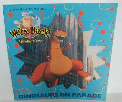 WE'RE BACK DINOSAURS ON PARADE PAPERBACK BOOK Steven Spielberg E5