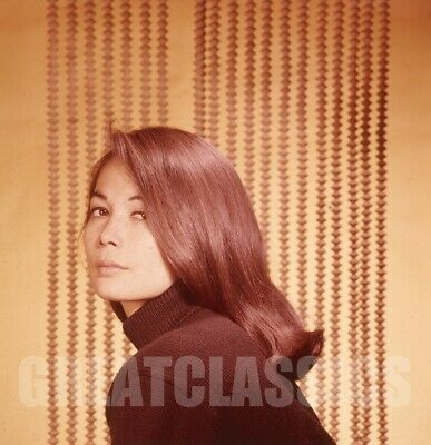 NANCY KWAN 1960s BEAUTIFUL 2 1/4 COLOR CAMERA TRANSPARENCY PETER BASCH