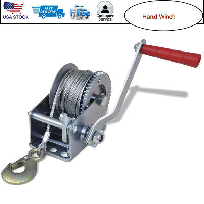 2000 LB CAPACITY Worm Gear Hand Winch Puller For Boats