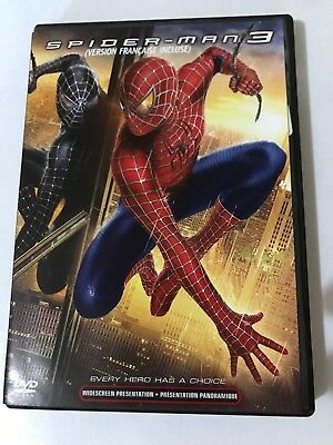 Spider-Man 3 Dvd 2007 Widescreen Canadian Every Hero Has A Choice