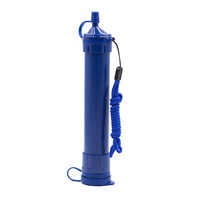 Water Straw Tube Filter Purifier Survival For Outdoor Camping Hiking Portable US