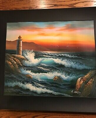 "H. Gailey Original Oil Painting. 23"" x 27"" Canvas, with texture."