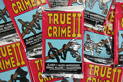 Eclipse True Crime II Trading Cards, ONE Unopened Pack, 1992