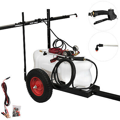 60L Weed Sprayer ATV Trailer Boom Spot Spray Tank Garden Farm Killer Gum Pump