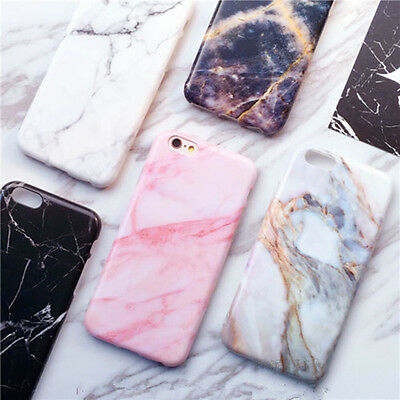 Quality Granite Marble Stone Effect Soft Cases Covers for Phone 7 7Plus 6 6s UK