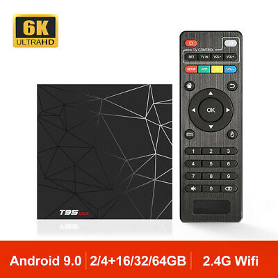 Android 9.0 T95 MAX Smart TV Box 6K HDR Wifi H6 Quad Core TV Caja 4G 32G T95MAX