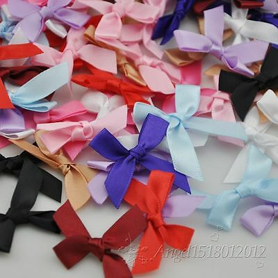 Upick 50/100/500PC Many color ribbon bow Appliques Craft DIY Sewing Craft A230