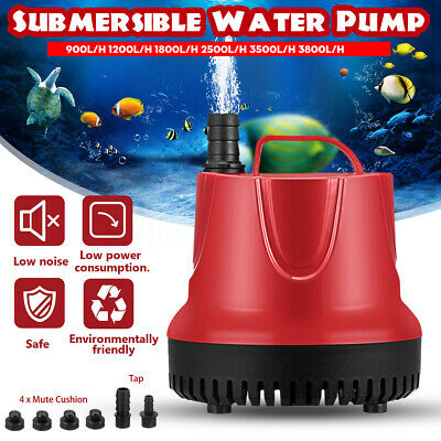 1200-3800L/H Submersible Water Pump Aquarium Fish Pond Tank Fountain Hydroponic