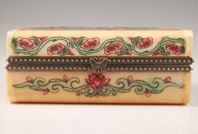 Unique Cattle Bone Jewelry Box Handmade Painting Furniture Decoration Gift Colle