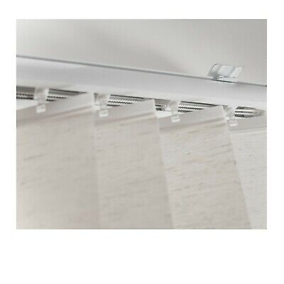 DIY Vertical Blind Kit, Complete Set with 3.5 Inch fabric slats, Linen look