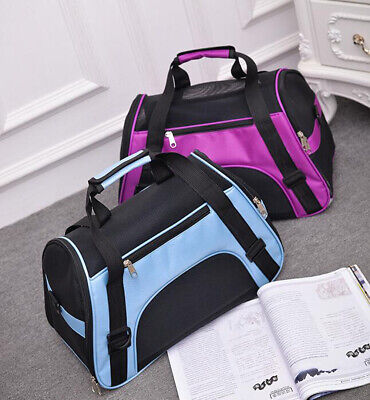 Nylon Pet Carrier Soft Sided Small/Large Cat Dog Comfort Bag Travel Approved