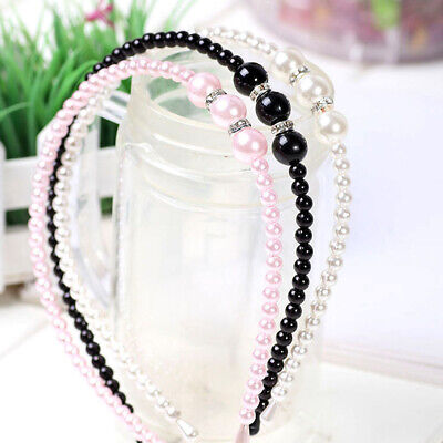 Elegant Rhinestone Pearl Hairband Girl Princess Ladies Headband Hair Accessories