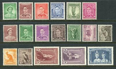 Australia GVI Definitive Stamps Mint to £1