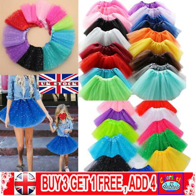 e792267251e86b High Quality New Tutu Skirt LADY WOMEN GIRLS KIDS Fancy Dress Party  Sparkling C