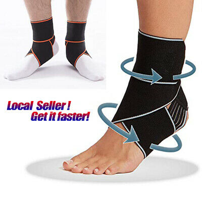 Ankle Support Strap Adjustable Brace Foot Sprains PainRelif Sports Protector FCS