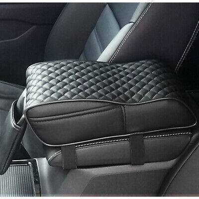 Auto Car Armrest Box Mats PU Leather Console Pad Memory Foam Cushion Universal