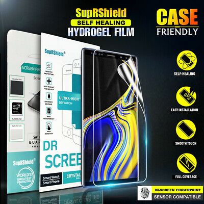 Samsung Galaxy S8 S9 S10 Plus SupRShield Hydrogel Full Coverage Screen Protector