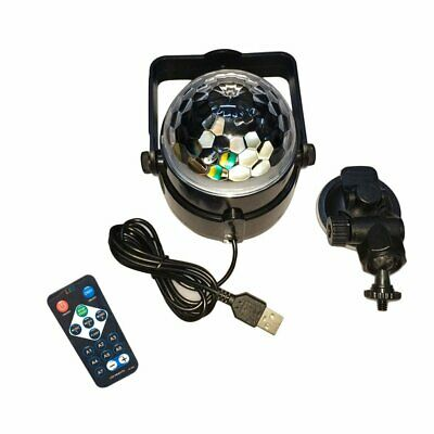 USB RGB LED Disco Ball DJ Party Light Effect Sound Activated Strobe Gift PQ