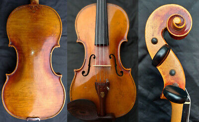 FINE 4/4 ANTIQUE ROYAL GERMAN VIOLIN w. 2 METHOLOGICAL SIGN c.1850 ROSEWOOD 小提琴