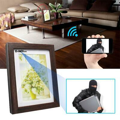 1080P HD Wireless WiFi Spy Hidden Camera Photo Frame IR Night Vision Nanny Cam