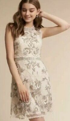 New Needle /& Thread BHLDN Edie Floral Beaded MiniDress Sz 6 12