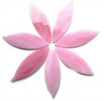 Large Pink Stained Glass Petals - Mosaic Tiles Supplies Art Craft