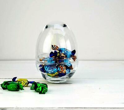 Glass Oval Egg Jar & Cover | Terrarium | Sweets | Display Jar - choice of sizes