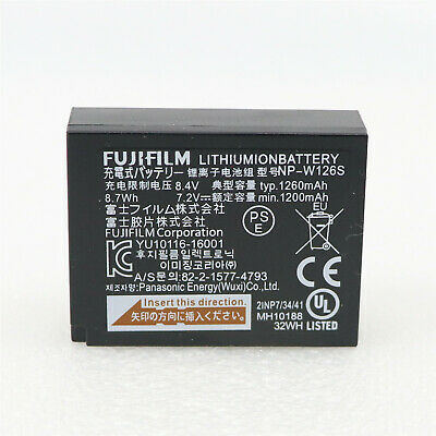 New NP-W126S W126S Battery For FUJI Fujifilm X-T3 X-T2 / X-Pro2 1260mAh