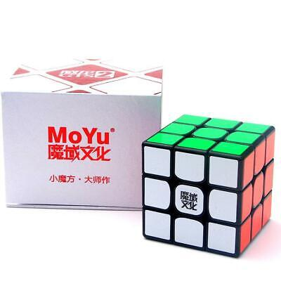 MOYU Weilong GTS V2 3x3x3 Speed Magic Cube Black Puzzle Game Box UK STOCK YJ8250