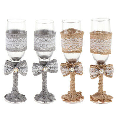 2 Pieces Champagne Glasses Flutes Wine Glasses Drinking Wine Goblets