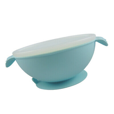 Silicone Baby Feeding Bowl Infant Tableware BPA Free for 6-12 Month Blue