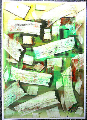 "original aquarell  "" 5.dimension ""  abstrakt signiert 21cm x 30cm 300 g/m²"