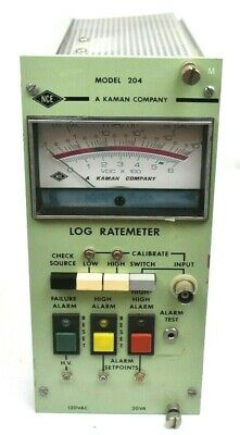 NCE Nuclear Controls Model 204 LOG Ratemeter, 120 VAC ~ 20 VA