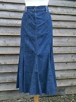 529ccc404b Per Una M&S Denim Skirt 16R Fit & Flare Style Blue Marks & Spencer ...