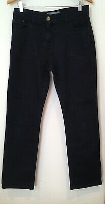 Ladies Casual Wear Straight Leg Dark Wash Blue Jeans W32 L30 14 <SW3298
