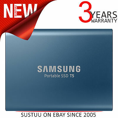 Samsung T5 500GB USB 3.1 Type-C Portable External Solid State Drive│Storage│Blue