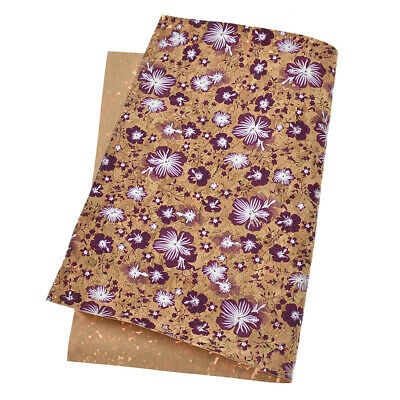 A4 Flowers Printed Soft Cork Fabric Sheets Bow DIY Craft Bag Shoes Material